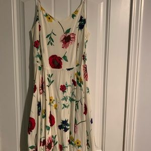 Old navy floral print swing style dress